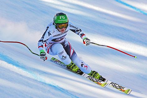 Nicole Schmidhofer bei der zweiten Abfahrt in Cortina