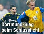 Braunschweig Havard Nielsen (Braunschweig) right gegen Henrikh Mkhitaryan  (Dortmund)