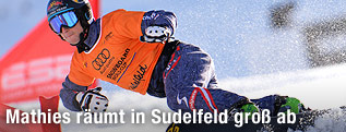 Snowboarder Lukas Mathies