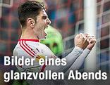 Szene aus dem Spiel Salzburg - Ajax