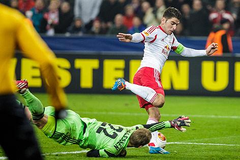 Spielszene aus Salzburg gegen Ajax
