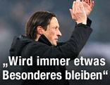 Salzburg-Trainer Schmidt jubelt