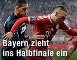 Antonio Valencia (Manchester United) und Franck Ribery (Bayern München)