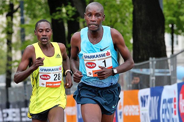 Die Kenianer Timothy Kiptoo und Henry Sugut