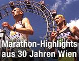 Marathonläufer vor dem Wiener Riesenrad