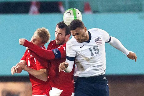 Terrence Boyd (USA) im Spiel gegen Österreich
