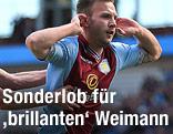 Andreas Weimann jubelt