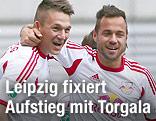 Daniel Frahn und Sebastian Heidinger (RB Leipzig)