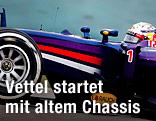 Rennauto von Sebastian Vettel (Red Bull Racing)