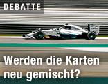 Mercedes auf der Strecke