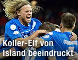 Jubel der Isländer