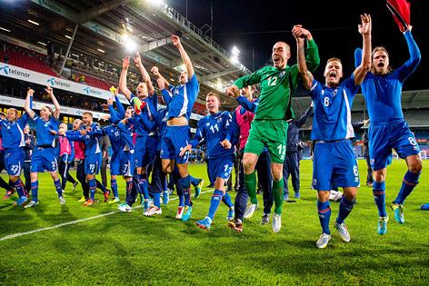 Jubel der isländischen Mannschaft