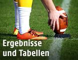 Füße und Football