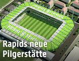 Rendering des neuen Rapid-Stadions