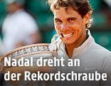Rafael Nadal mit Pokal
