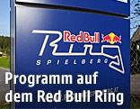 Hinweistafel zum Red Bull Ring Spielberg