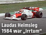 Niki Lauda während eines Formel-1-Rennens, am 19. August 1984, auf dem Österreichring bei Zeltweg.