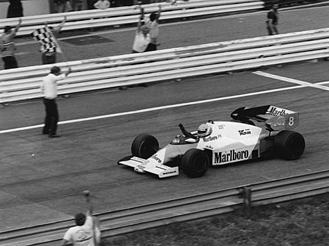 Niki Lauda gewinnt am 19. August 1984 den Grand Prix von Österreich.