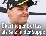 Williams-Fahrer Bottas auf dem Podest