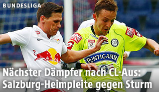 Christoph Leitgeb (RBS) und Daniel Beichler (Sturm)