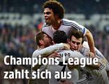 Jubelnde Real-Madrid-Spieler