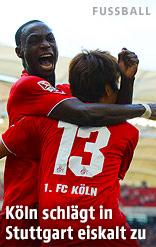Köln-Spieler jubeln