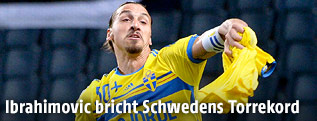 Zlatan Ibrahimovic (SWE) jubelt