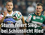 Lukas Spendlhofer (Sturm) und Denis Thomalla (Ried)