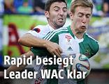 Joachim Standfest (WAC) gegen Robert Beric (Rapid)