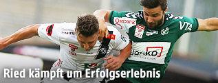 Christopher Wernitznig (WAC) und Dieter Elsneg (Ried)