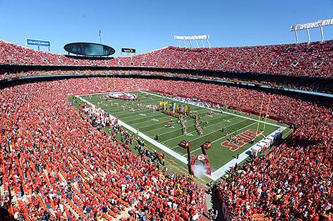 Volles Stadion der Kansas City Chiefs