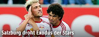 Salzburg-Spieler Kevin Kampl und Ramalho