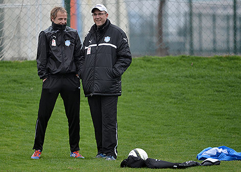 Neustadt-Coach Pfeifenberger und Manager Kreissl