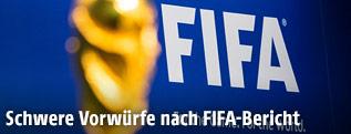WM-Pokal vor FIFA-Logo