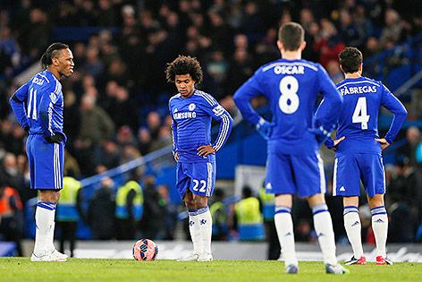 Enttäuschte Chelsea-Spieler