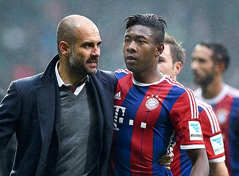 Pep Guardiola und David Alaba
