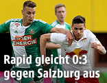 Dominik Wydra (Rapid) und Christoph Leitgeb (Salzburg)