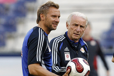 Co-Trainer Thorsten Fink und Trainer Giovanni Trapattoni (RBS), 2007