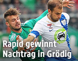 Philipp Prosenik (Rapid) und Matthias Maak (Grödig).