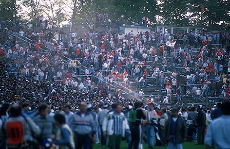 Tribüne des ehemaligen Heysel Stadions
