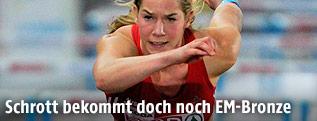 Hürdenläuferin Beate Schrott