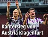 Jubel der Spieler von Austria Klagenfurt