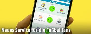 Handy mit ORF.at Fußball