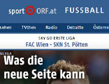 Screenshot ORF.at Fußball