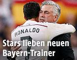 Cristiano Ronaldo und Carlo Ancelotti