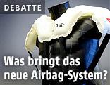 Airbag auf einem Testdummy