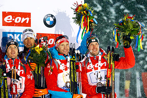Sven Grossegger, Julian Eberhard, Simon Eder and Dominik Landertinger