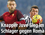 Mario Mandzukic (Juventus) und Daniele De Rossi (AS Roma)