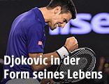 Novak Djokovic ballt jubelnd die Faust