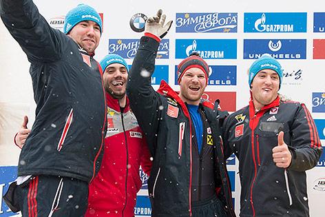 Benjamin Maier, Marco Rangl, Markus Sammer und Danut Ion Moldovan